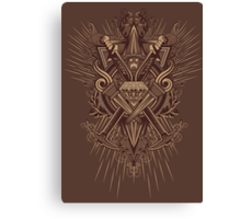 Crest Craft Brown Canvas Print