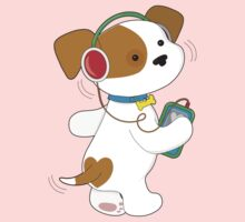 Cute Puppy Headphones Kids Clothes