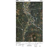 USGS Topo Map Washington State WA Acme 20110418 TM Photographic Print