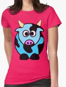 ღ°㋡Cute Baby Blue Cow Clothing & Stickers㋡ღ° Womens Fitted T-Shirt