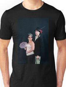 steampunk couple on black  Unisex T-Shirt