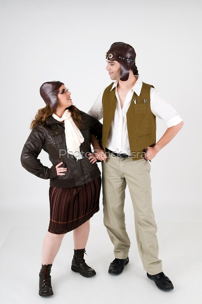 steampunk couple on white  by PhotoStock-Isra