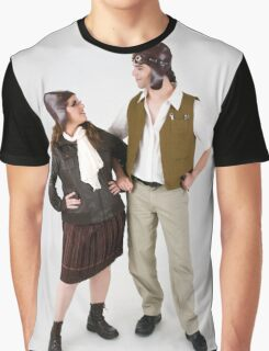 steampunk couple on white  Graphic T-Shirt