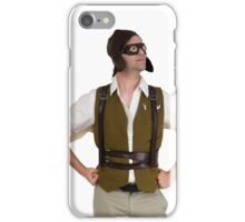 steampunk man with wings  iPhone Case/Skin