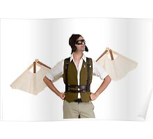 steampunk man with wings  Poster