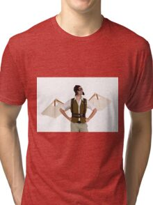 steampunk man with wings  Tri-blend T-Shirt