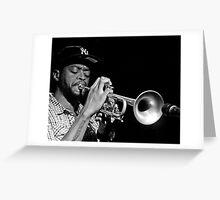 Jazz Club Trumpet Greeting Card