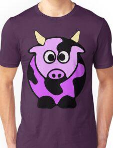 ღ°㋡Cute Lavender Colored Cow Clothing & Stickers㋡ღ° Unisex T-Shirt