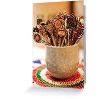nana's teaspoons Greeting Card
