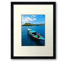 All in a day's work...... Framed Print
