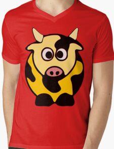 ღ°㋡Cute Brindled Golden Cow Clothing & Stickers㋡ღ° Mens V-Neck T-Shirt