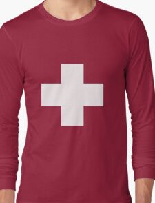 Swiss Flag T-shirt Long Sleeve T-Shirt