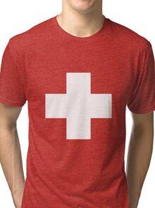 Swiss Flag T-shirt Tri-blend T-Shirt
