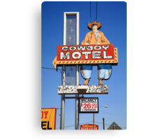 Route 66 - Cowboy Motel Canvas Print