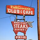 Route 66 - Cattleman&#x27;s Club and Cafe by Frank Romeo