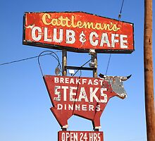 Route 66 - Cattleman's Club and Cafe by Frank Romeo