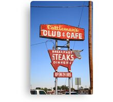 Route 66 - Cattleman's Club and Cafe Canvas Print
