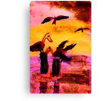 Impending storm, watercolor Canvas Print