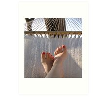Relaxing moment on the beach Art Print