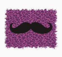 Black Mustache on leopard skin by Nhan Ngo