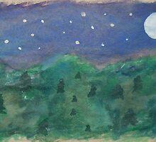 moonlight forest by maidenwolf