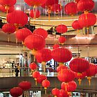 Hanging chinese lanterns by Jeff Knapp