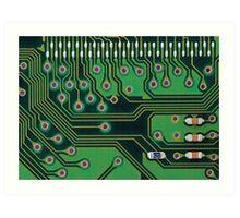 Circuit board details Art Print