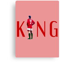 Eric Cantona: The King Canvas Print