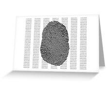Fingerprint over binary numbers Greeting Card