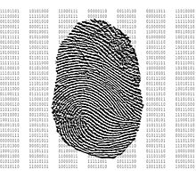 Fingerprint over binary numbers Photographic Print