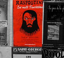 Paris poster for presentation of Rasputin by Jeff Knapp