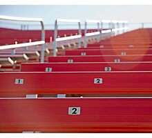 Red stadium seating Photographic Print
