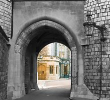 Castle arch leading to royal home by Jeff Knapp