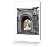 Castle arch leading to royal home Greeting Card
