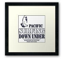 Pacific Surfing - Australia - Down Under Framed Print