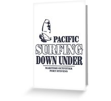 Pacific Surfing - Australia - Down Under Greeting Card