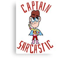 Captain Sarcastic Canvas Print