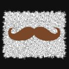 Funny Mustache on leopard skin by Nhan Ngo
