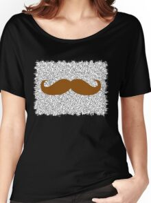 Funny Mustache on leopard skin Women's Relaxed Fit T-Shirt