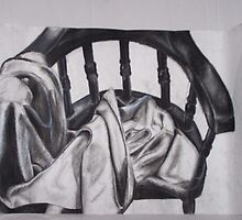 Chair and Blanket by kmazzei