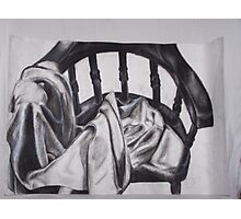 Chair and Blanket Photographic Print