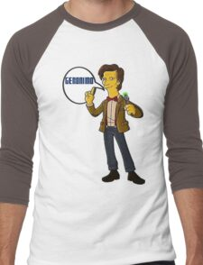 Doctor Who Geronimo The Simpsons Men's Baseball ¾ T-Shirt