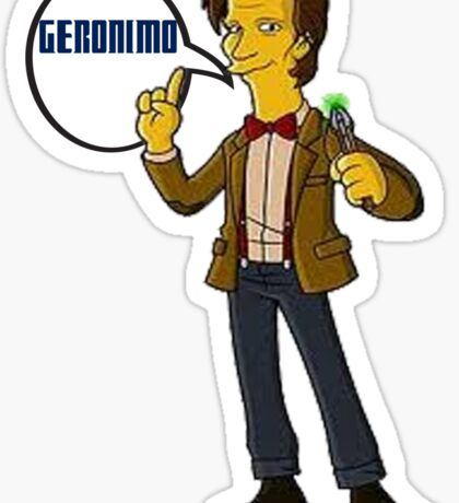Doctor Who Geronimo The Simpsons Sticker