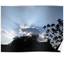 Sun behind cloud Poster