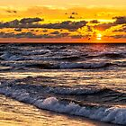Stormy Lake Michigan Sunset by Mike Koenig