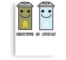 Sergent pepper & captain salt Canvas Print