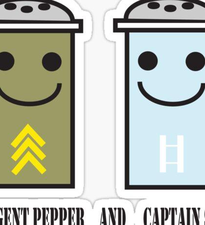 Sergent pepper & captain salt Sticker