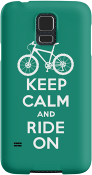 Keep Calm and Ride On  green  3G  4G  4s iPhone case  by Andi Bird