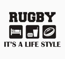Rugby Eat Sleep and Play Rugby by SportsT-Shirts