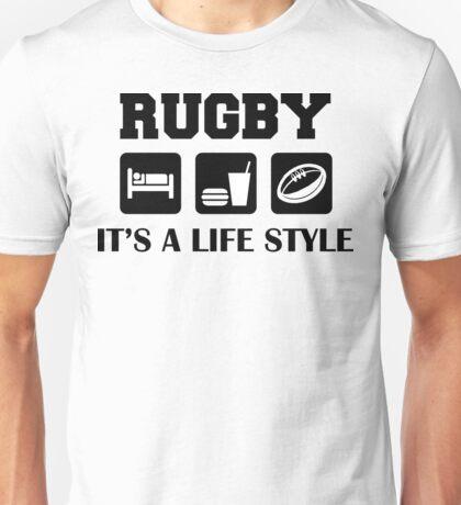 Rugby Eat Sleep and Play Rugby Unisex T-Shirt